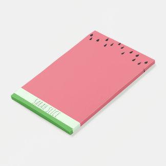 Bloco De Notas Notas cor-de-rosa do Cargo-it® da melancia do