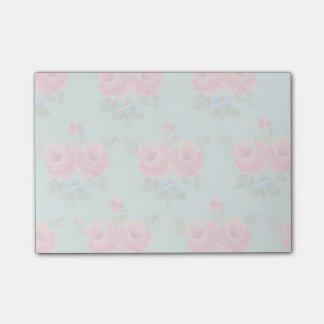 Bloco De Notas Notas de post-it cor-de-rosa desvanecidas lindos