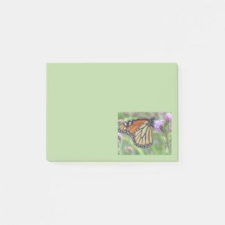 Bloco De Notas Notas de post-it da borboleta de monarca