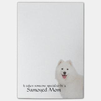 Bloco De Notas Notas de post-it da mamã do Samoyed