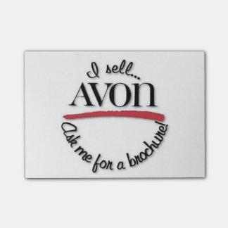 Bloco De Notas Notas de post-it do representante de Avon
