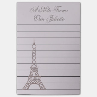 Bloco De Notas Notas de post-it personalizadas da torre Eiffel da
