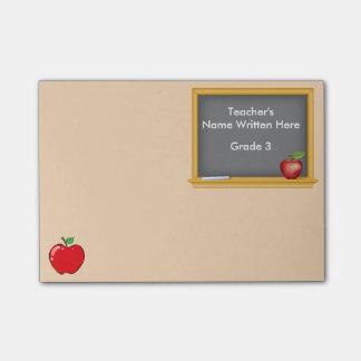 Bloco De Notas Notas de post-it personalizadas - quadro e Apple