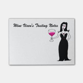 Bloco De Notas Notas do provando do Vixen do vinho
