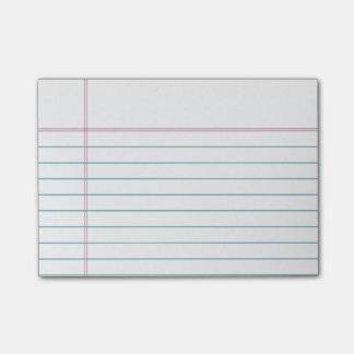 Bloco De Notas Notas pegajosas alinhadas customizáveis do papel