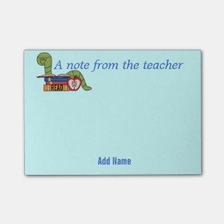 Bloco De Notas Notas pegajosas do leitor ávido para professores