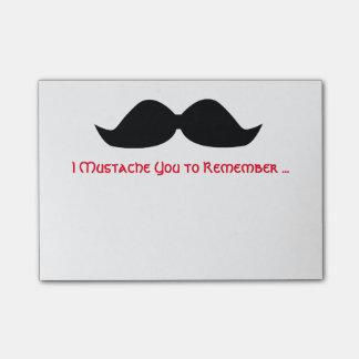 Bloco De Notas Notas pegajosas do memorando do bigode