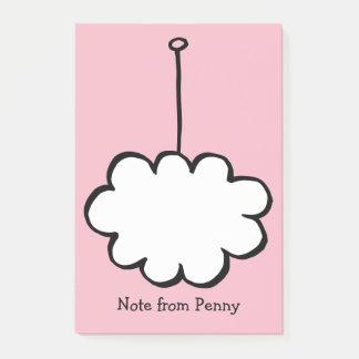 Bloco De Notas Nuvem personalizada em uma corda