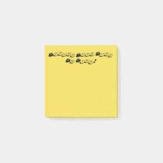 Bloco De Notas O amarelo expande sua mente seja notas de post-it