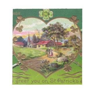Bloco De Notas O dia retro de St Patrick do irlandês do vintage