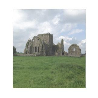 Bloco De Notas O irlandês da abadia de Ireland Hore arruina a