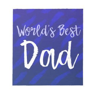 Bloco De Notas O melhor pai do mundo