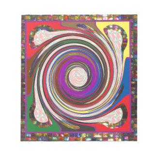 Bloco De Notas O remoinho HighTide do furacão acena a arte