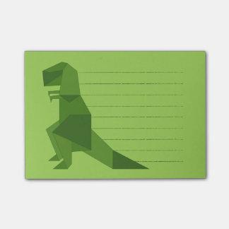 Bloco De Notas Origami de T-Rex