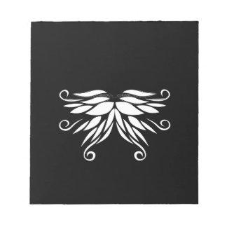 Bloco De Notas Ornamento brancos pretos do Nordic de Sibéria