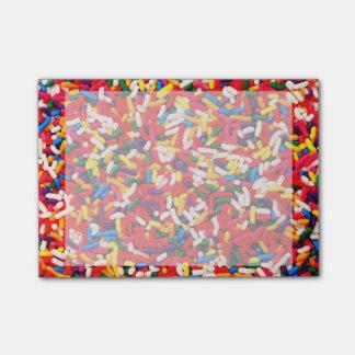 Bloco De Notas Os doces coloridos polvilham