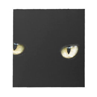 Bloco De Notas Os olhos de gato preto