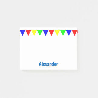 Bloco De Notas Os triângulos coloridos engraçados personalizaram