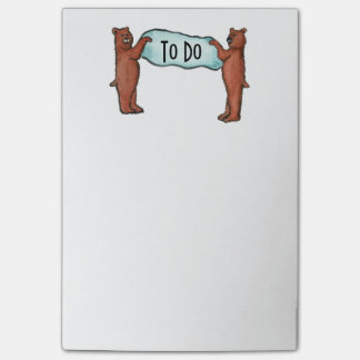 Bloco De Notas os ursos PARA FAZER a lista