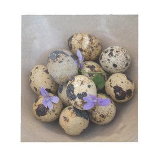 Bloco De Notas Ovos de codorniz & flores 7533