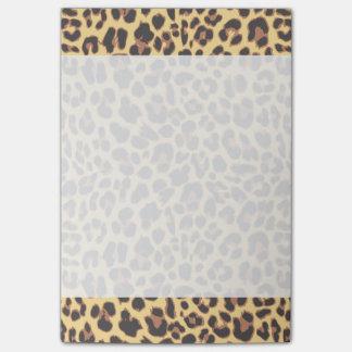 Bloco De Notas Padrões da pele animal do impressão do leopardo