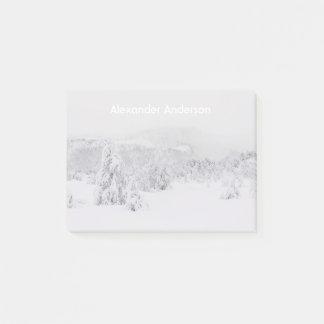 Bloco De Notas Paisagem sereno do país das maravilhas do inverno