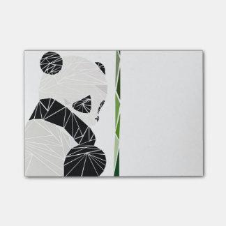 Bloco De Notas Panda triste geométrica