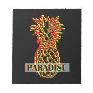 Bloco De Notas Paraíso do abacaxi