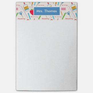 Bloco de notas personalizado escola do post-it sticky notes