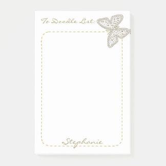 """Bloco De Notas Personalize """"para doodle a borboleta da arte do"""