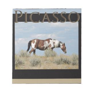 Bloco De Notas Picasso, garanhão da bacia de lavagem da areia,