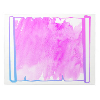 Bloco De Notas Planejador cor-de-rosa do rolo da aguarela do