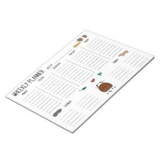 Bloco De Notas Planejador (semanal) de Wheekly da cobaia para