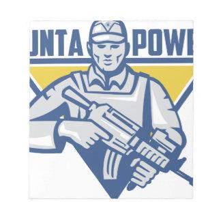 Bloco De Notas Poder ucraniano da junta do exército