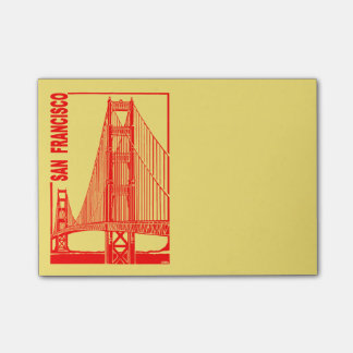 Bloco De Notas Ponte da porta do Francisco-Ouro de San