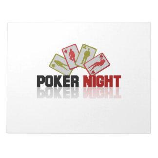 Bloco De Notas Póquer do casino