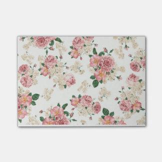 Bloco De Notas Post-it floral/para fazer notas