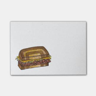 Bloco De Notas Post-it judaicos de Foodie do sanduíche de Reuben