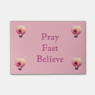 Bloco De Notas Pray, rapidamente e acredite notas de post-it