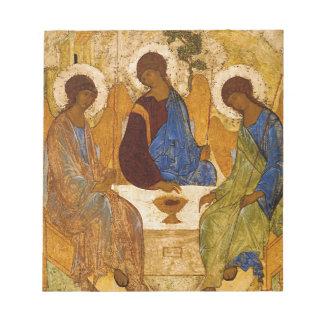 Bloco De Notas Presente católico bizantino de Rublev do ícone da