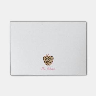 Bloco De Notas Professor de Apple do impressão do leopardo