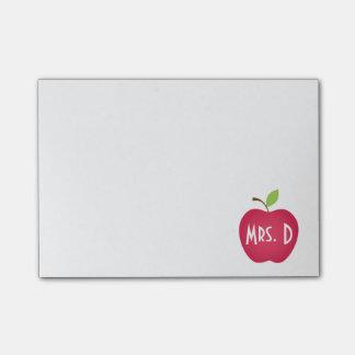 Bloco De Notas Professor vermelho personalizado de Apple
