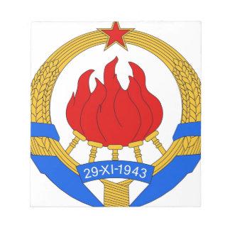 Bloco De Notas República federal socialista do emblema de