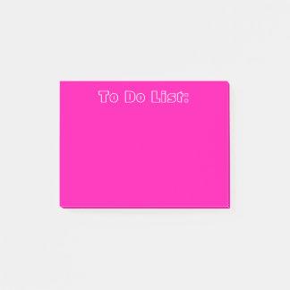 Bloco De Notas Rosa para fazer a lista