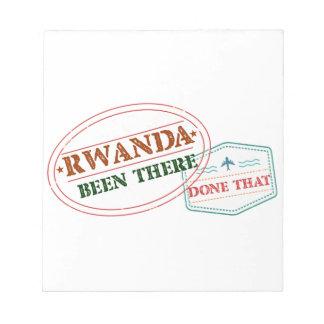 Bloco De Notas Rwanda feito lá isso