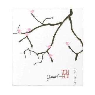 Bloco De Notas sakura e 7 pássaros cor-de-rosa 2, fernandes tony