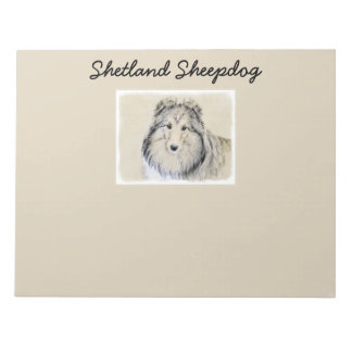 Bloco De Notas Sheepdog de Shetland