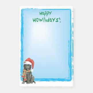 Bloco De Notas Sheepdog feliz do belga de Howlidays