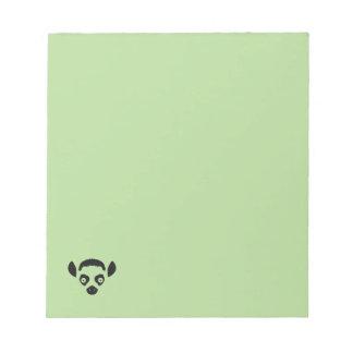 Bloco De Notas Silhueta da cara do Lemur