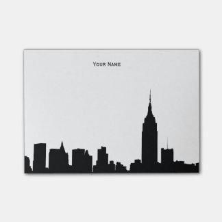 Bloco De Notas Silhueta da skyline de NYC